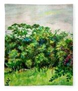 Abstract Landscape 6 Fleece Blanket