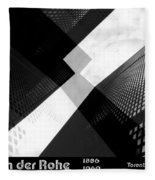 Abstract Mies Fleece Blanket