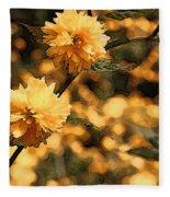 Abstract Of Yellow Flowers Fleece Blanket