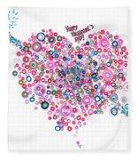 Abstract Pattern Valentine Fleece Blanket