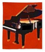 Abstract Piano Fleece Blanket