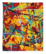 Abstract Pizza 1 Fleece Blanket