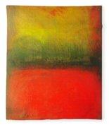 Poppy Field At Sunset Fleece Blanket