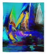 Abstract Regatta Fleece Blanket