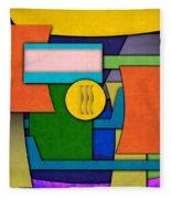 Abstract Shapes Color One Fleece Blanket