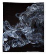 Abstract Smoke Running Horse Fleece Blanket