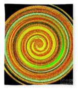 Abstract Spiral Fleece Blanket