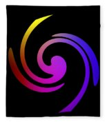 Abstract Spiral Color Fleece Blanket