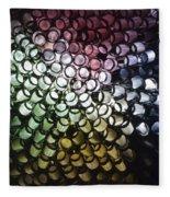 Abstract Straws Fleece Blanket