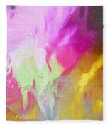 Abstract Summer's Bounty Fleece Blanket