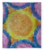 Abstract Sun Fleece Blanket