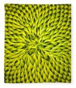 Abstract Sunflower Pattern Fleece Blanket