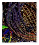 Abstract Textures Fleece Blanket