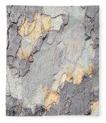 Abstract Tree Bark II Fleece Blanket