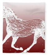 Abstract Wild Running Horse  Fleece Blanket