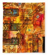 Abstraction Fleece Blanket