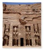 Abu Simbel Egypt 3 Fleece Blanket