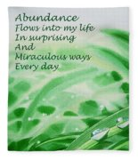 Abundance Affirmation Fleece Blanket
