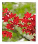 Acer Leaves Fleece Blanket