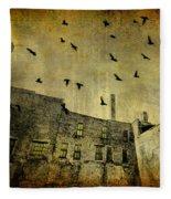 Industrial Acid Urban Sky Fleece Blanket