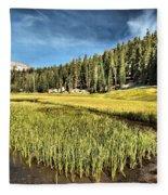 Across The Meadow Fleece Blanket
