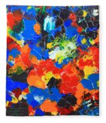Acrylic Abstract Upon Wood Fleece Blanket