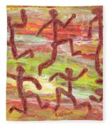 Acrylic Stickmen 2009 Fleece Blanket
