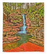 Adams Falls Fleece Blanket