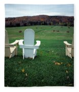 Adirondack Chairs Fleece Blanket