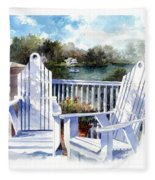 Adirondack Chairs Too Fleece Blanket