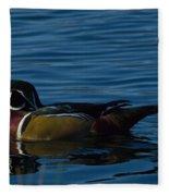 Adult Male Wood Duck Fleece Blanket