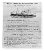 Advertisement: Steamship Fleece Blanket