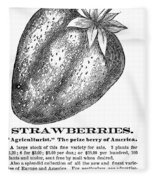 Advertisement: Strawberry Fleece Blanket