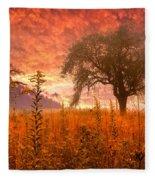 Aflame Fleece Blanket
