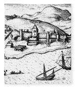 Africa: Portuguese Fort Fleece Blanket