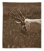 African Grassland Feeder Fleece Blanket