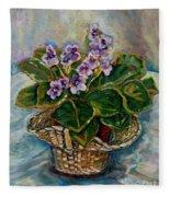 African Violets Fleece Blanket