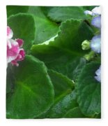 African Violets Intertwined I Fleece Blanket