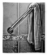 After The Shower - Bw Fleece Blanket