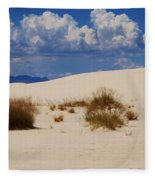 Afternoon At White Sands National Monument Fleece Blanket
