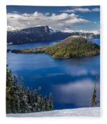 Afternoon Clearing At Crater Lake Fleece Blanket