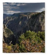Afternoon Clouds Over Black Canyon Of The Gunnison Fleece Blanket