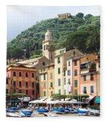 Afternoon In Portofino Fleece Blanket