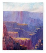 Afternoon In The Canyon Fleece Blanket