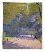 Afternoon In The Park Fleece Blanket