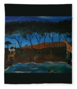 Afternoon In The Serengeti Fleece Blanket