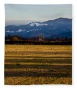 Afternoon Shadows Across A Rogue Valley Farm Fleece Blanket