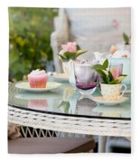 Afternoon Tea And Cakes Fleece Blanket