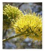 Agave Flowers Fleece Blanket