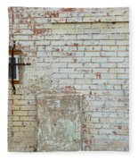 Aged Brick Wall With Character Fleece Blanket